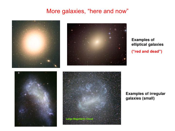 "More galaxies, ""here and now"""