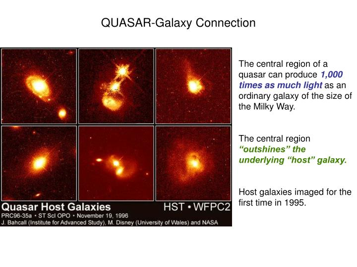 QUASAR-Galaxy Connection