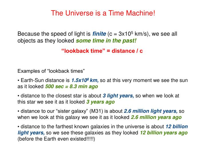 The Universe is a Time Machine!