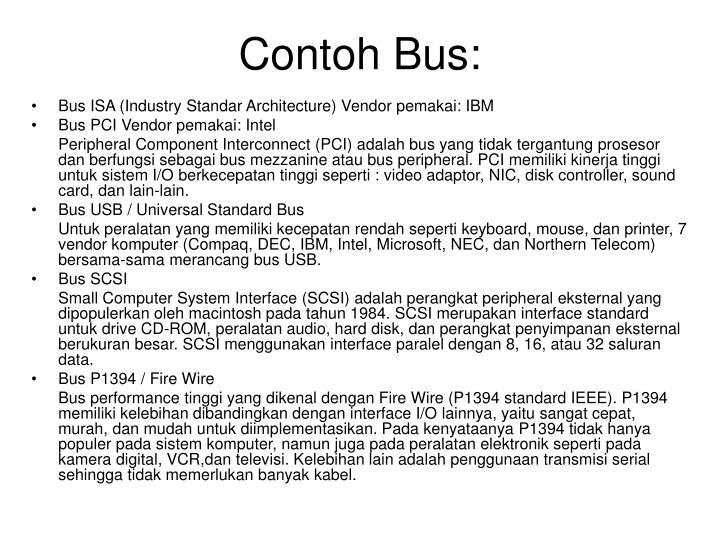 Contoh Bus: