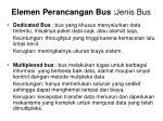 elemen perancangan bus jenis bus