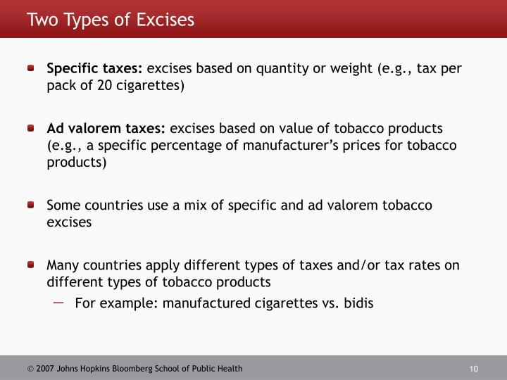 Two Types of Excises