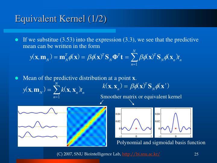 Equivalent Kernel (1/2)
