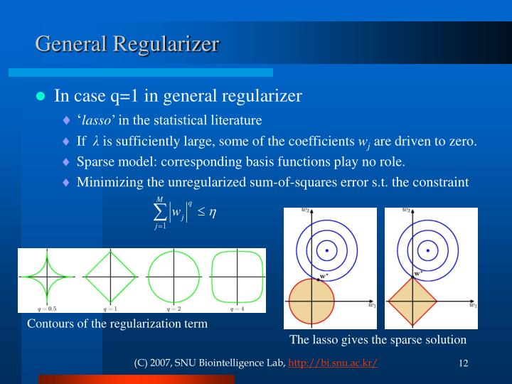 General Regularizer