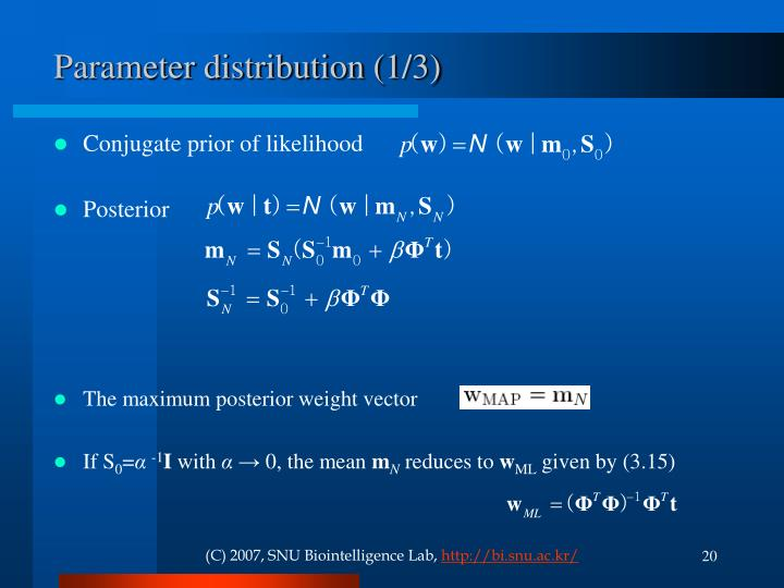 Parameter distribution (1/3)