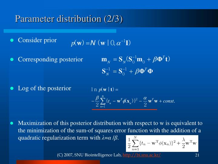 Parameter distribution (2/3)