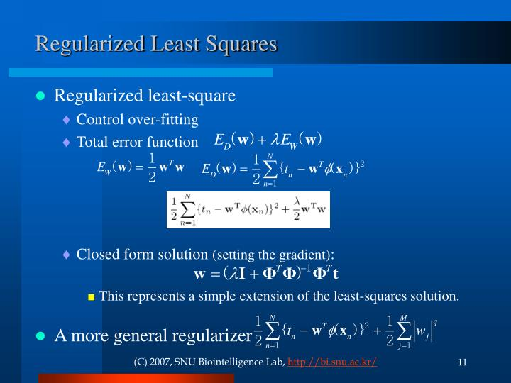 Regularized Least Squares