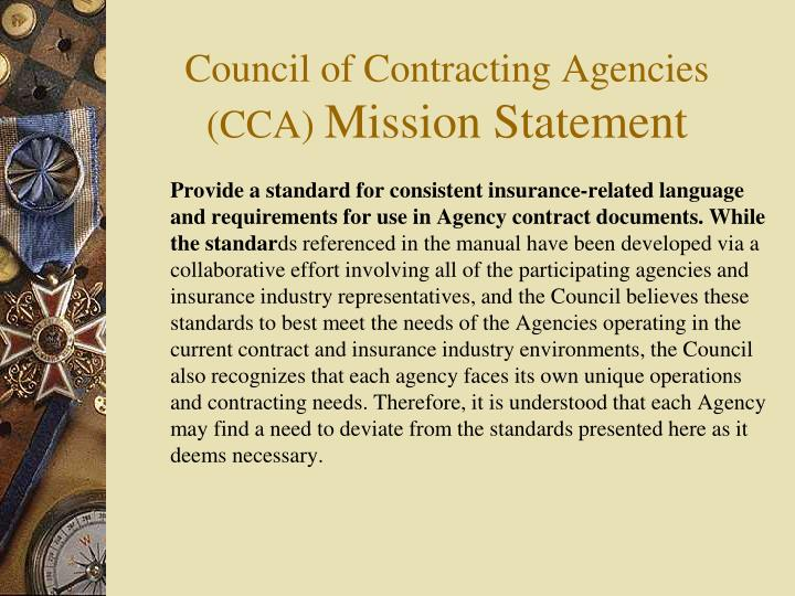 Council of Contracting Agencies (CCA)