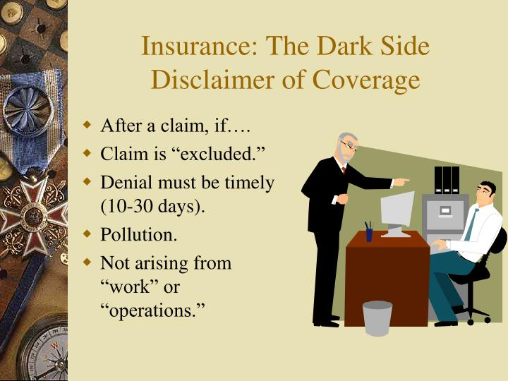 Insurance: The Dark Side