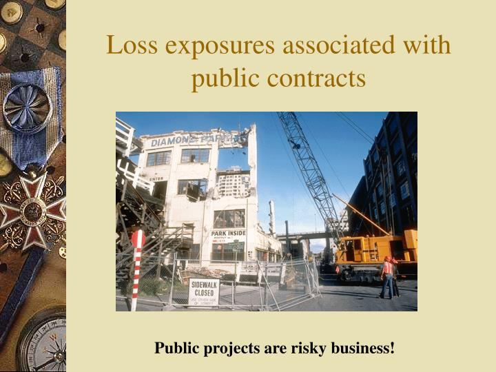 Loss exposures associated with public contracts