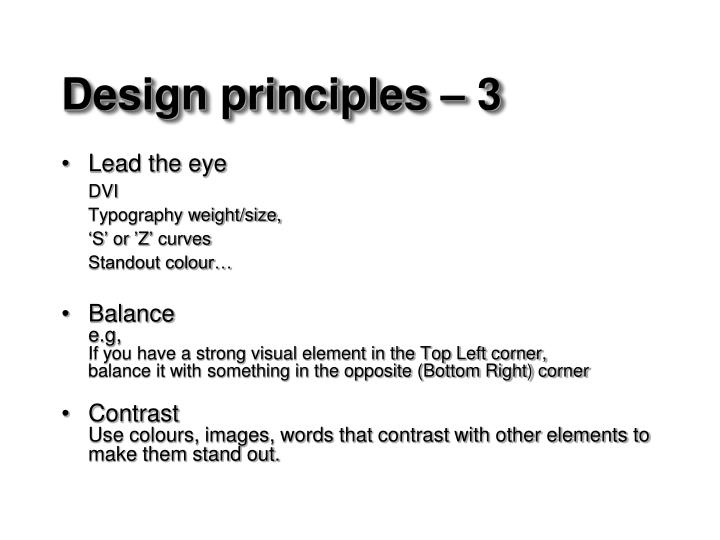 Design principles –3
