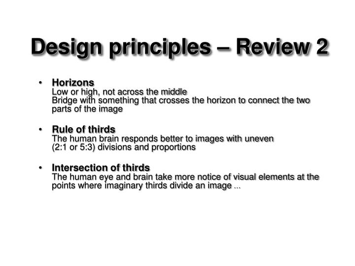 Design principles – Review 2