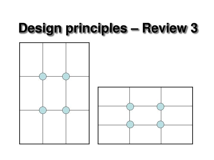 Design principles – Review 3