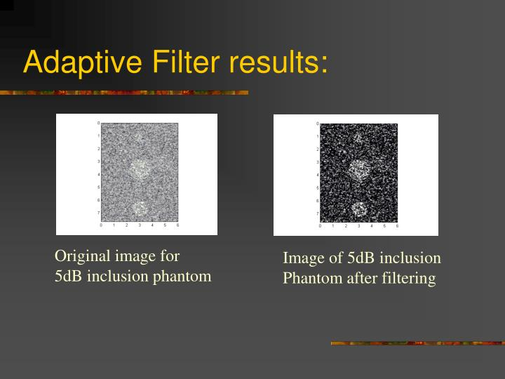 Adaptive Filter results: