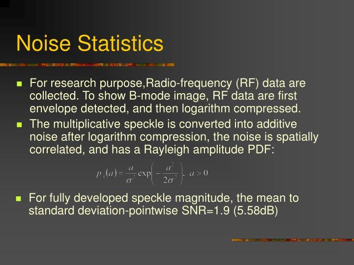 Noise Statistics
