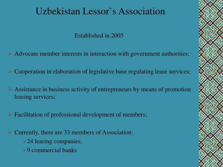 Uzbekistan Lessor`s Association