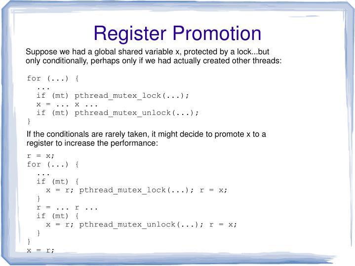 Register Promotion