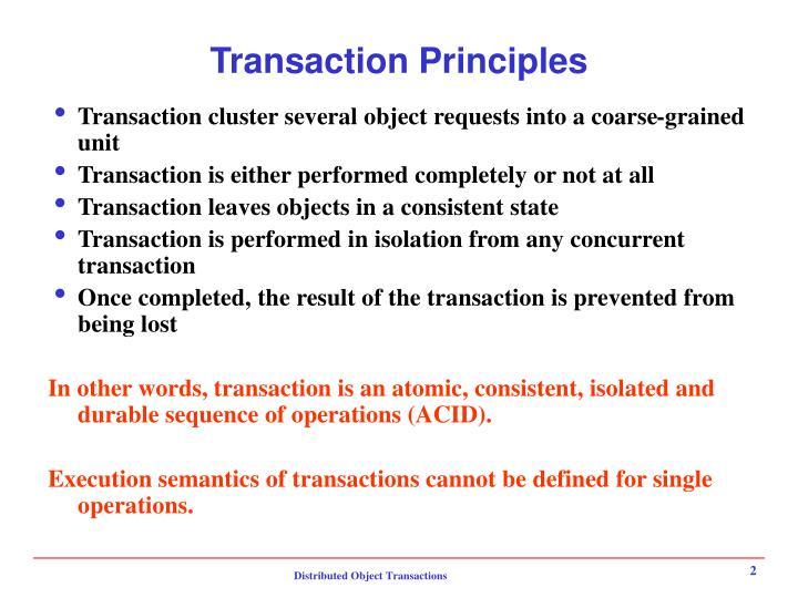Transaction Principles