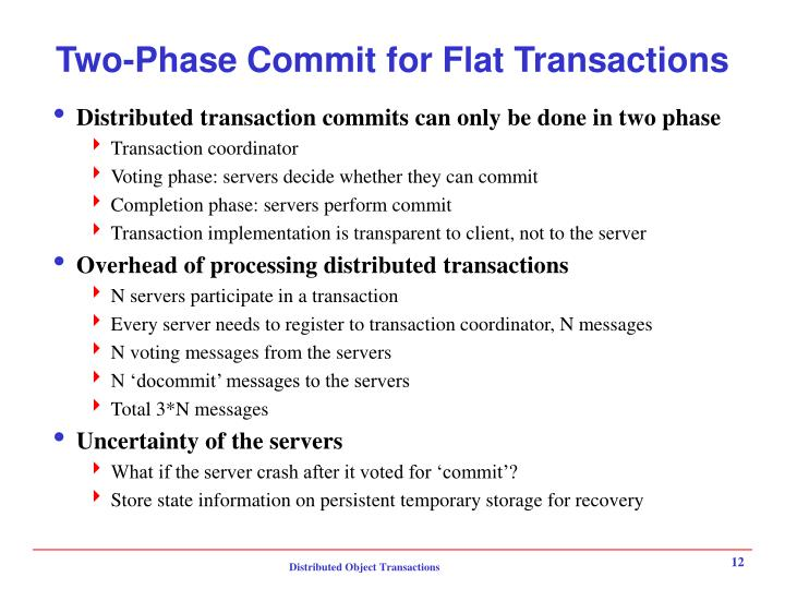 Two-Phase Commit for Flat Transactions