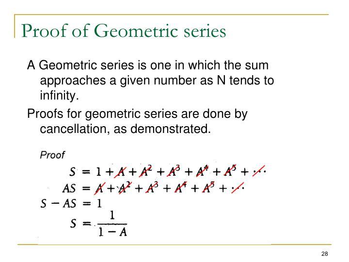 Proof of Geometric series