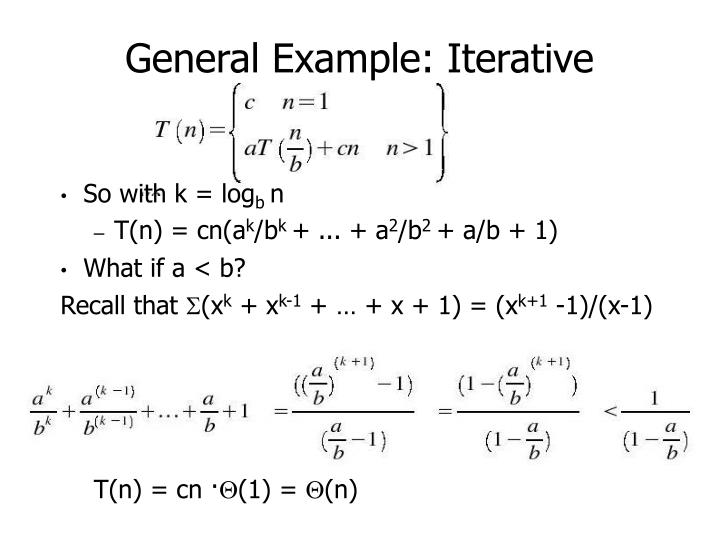 General Example: Iterative
