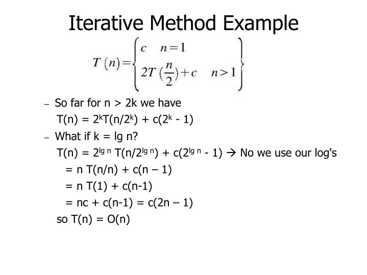 Iterative Method Example