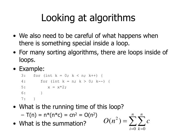 Looking at algorithms