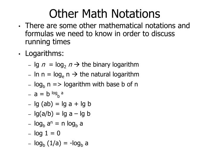 Other Math Notations
