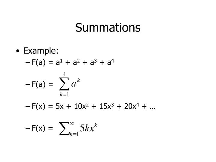 Summations