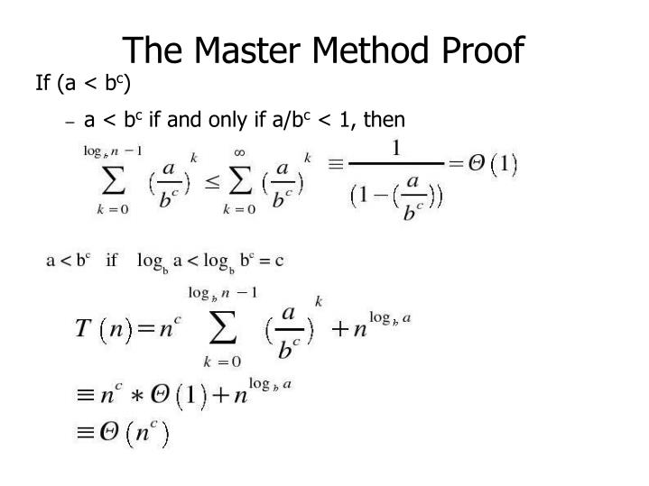 The Master Method Proof