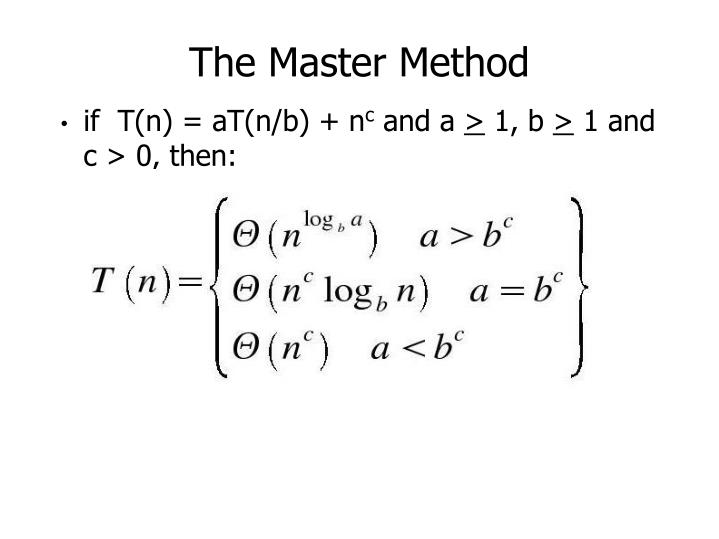 The Master Method