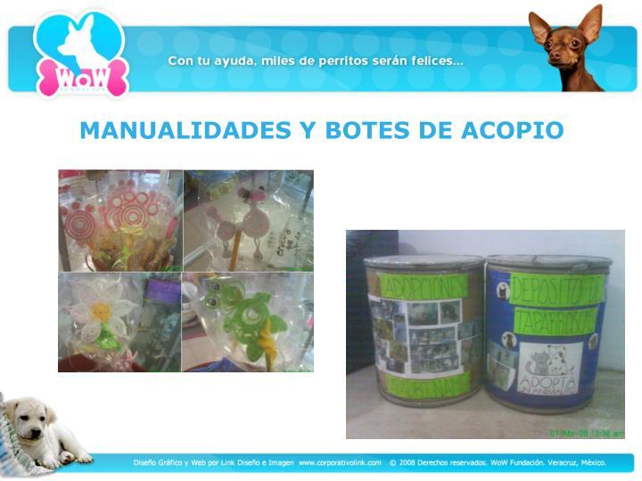 MANUALIDADES Y BOTES DE ACOPIO