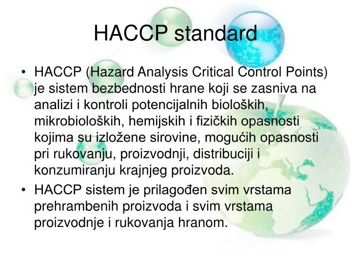 HACCP standard