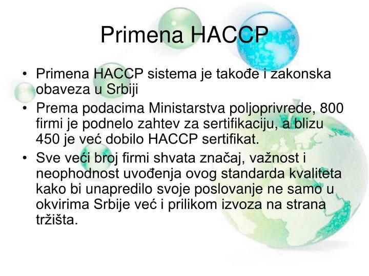 Primena HACCP