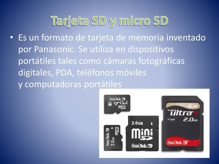 Tarjeta SD y micro SD