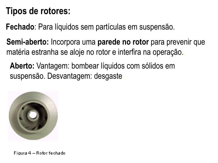 Tipos de rotores: