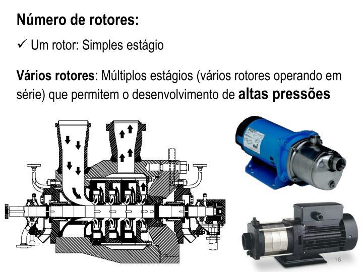 Número de rotores: