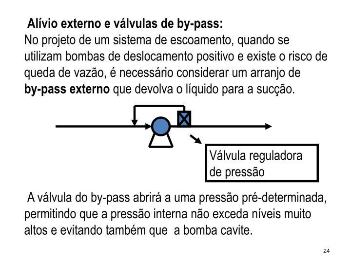 Alívio externo e válvulas de by-pass: