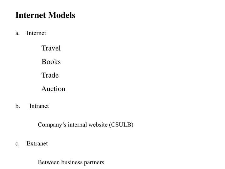 Internet Models