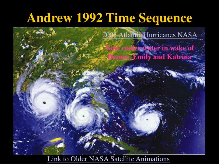 Andrew 1992 Time Sequence