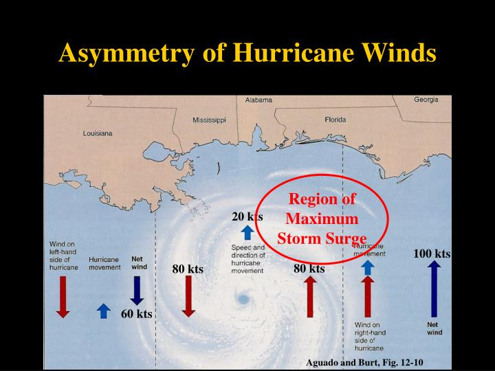 Asymmetry of Hurricane Winds
