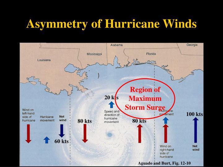 Asymmetry of Hurricane Winds