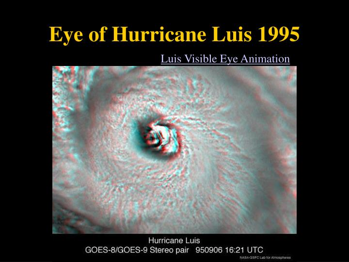 Eye of Hurricane Luis 1995