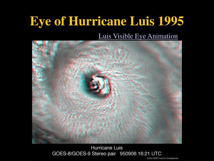 Eye of Hurricane Luis 1995