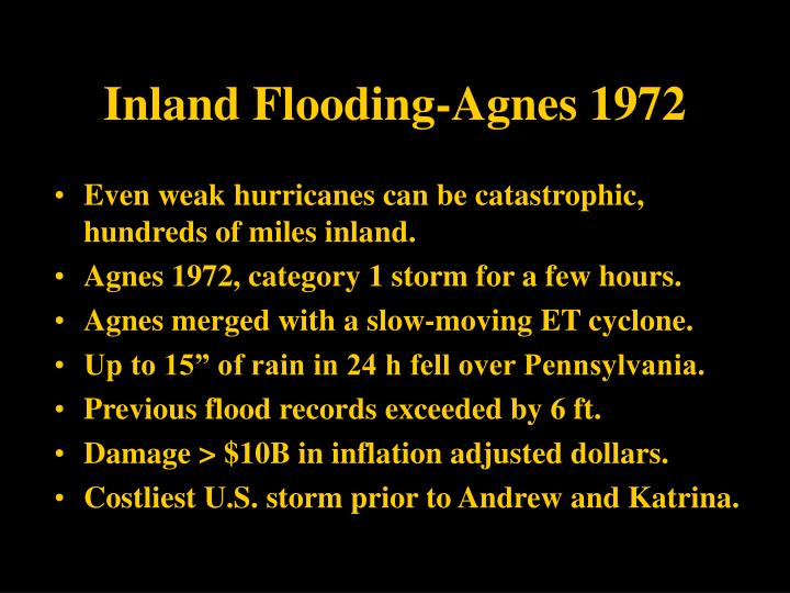 Inland Flooding-Agnes 1972