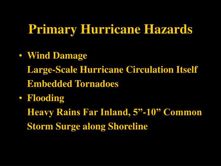 Primary Hurricane Hazards