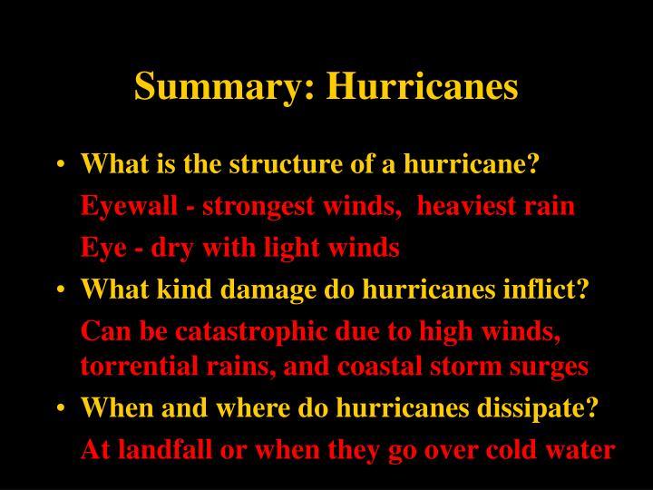Summary: Hurricanes