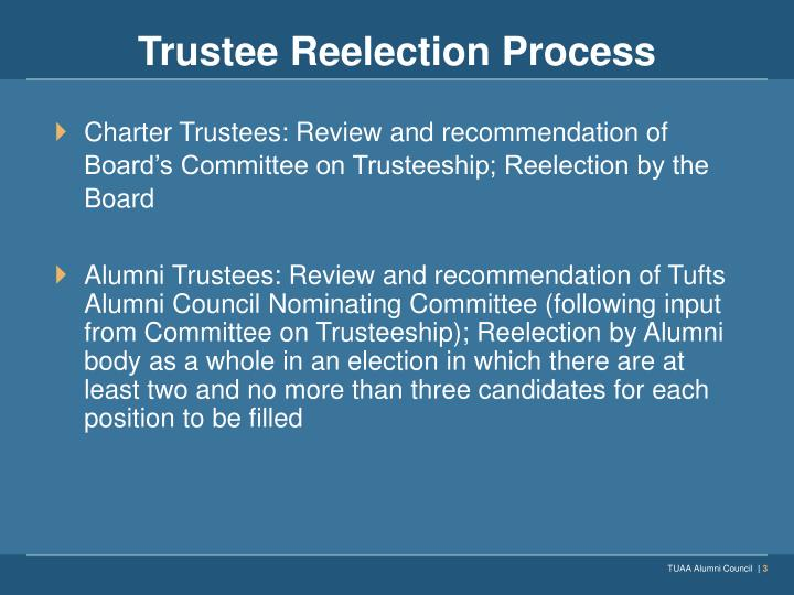 Trustee Reelection Process