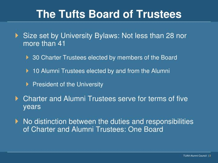 The tufts board of trustees