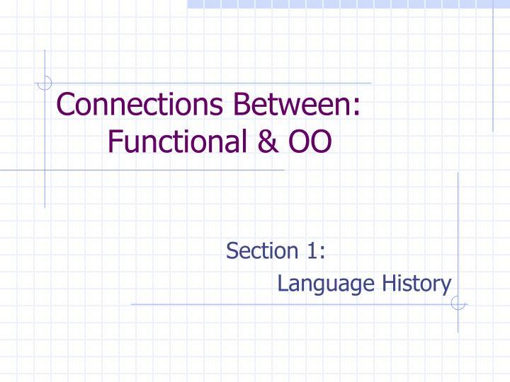 Connections Between: